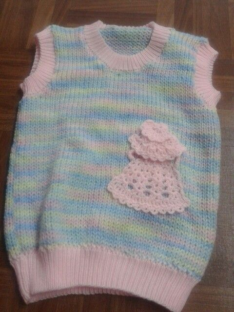 Chaleco con aplique de crochet