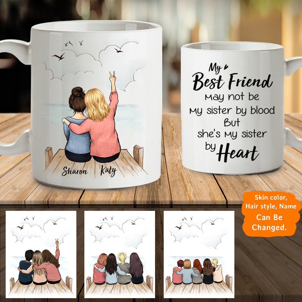 Personalized Custom Female Best Friend Bestie Sister Birthday Gift