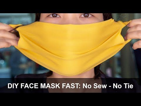 Photo of Make Fabric Face Mask at home | No Sew Face Mask | Easy Face Mask Pattern