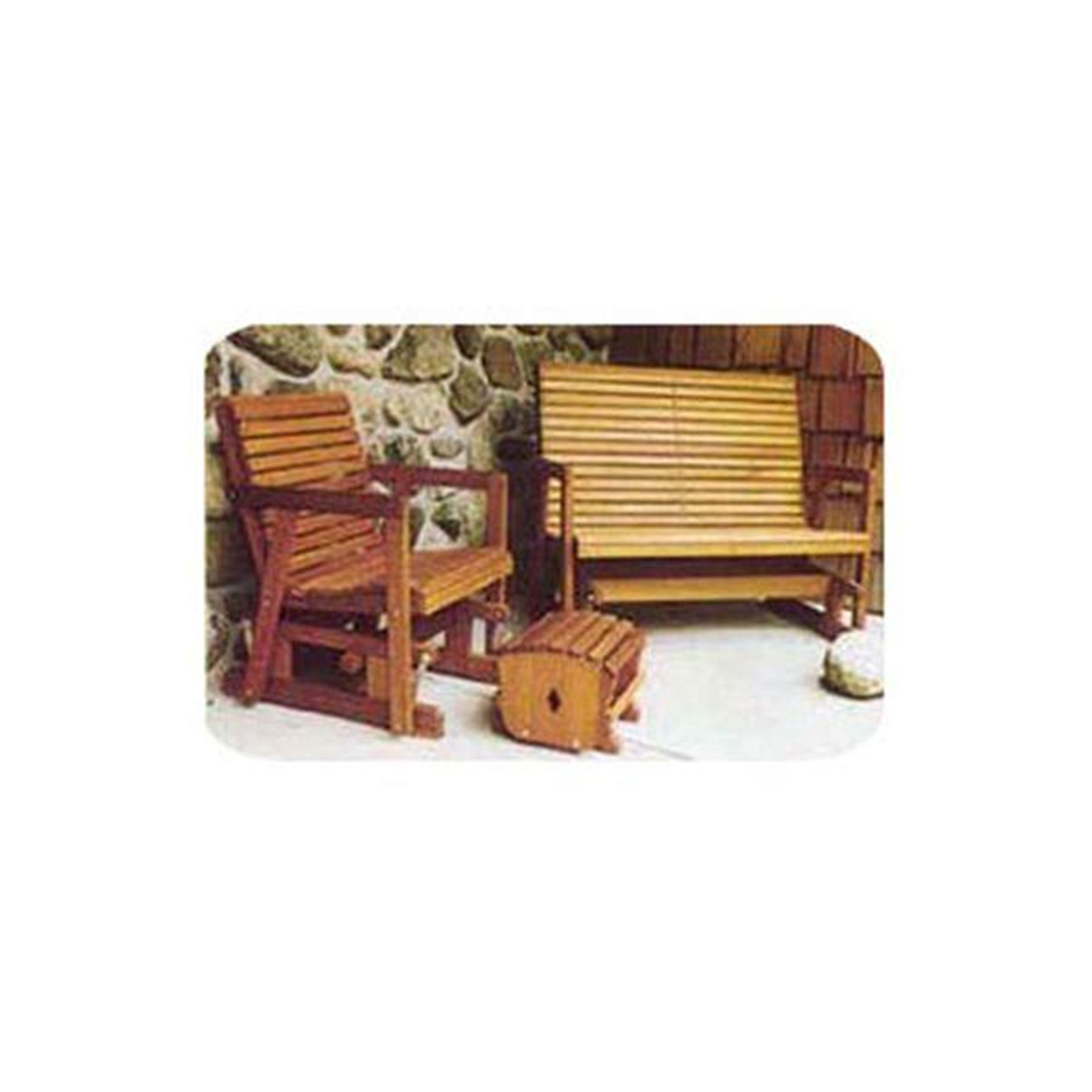 Woodworking Project Paper Plan to Build Glider Bench and Chair #woodworkingprojectschair