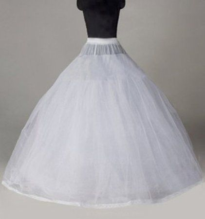 fdf886310104 8 Layer Tulle Hoopless Bridal Petticoat Ball Gown Underskirt Crinoline P003
