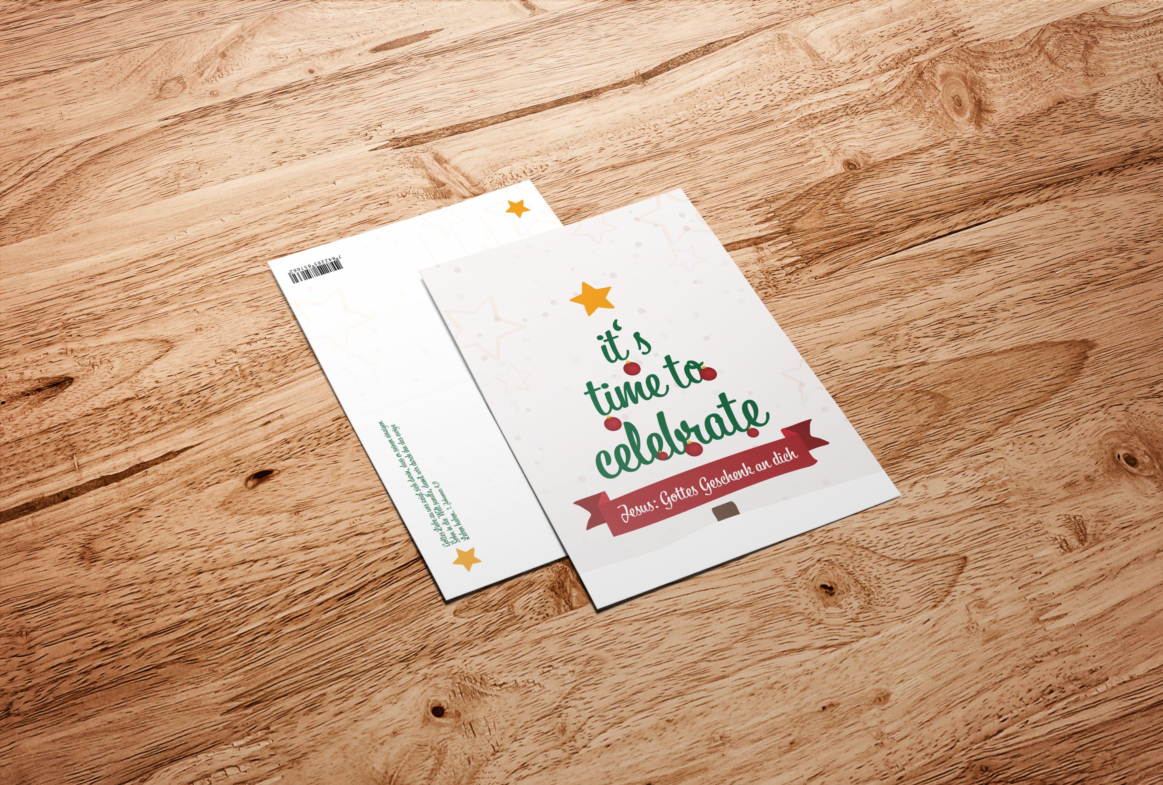 Weihnachtskarte: Time to celebrate #postkarte #postkarten ...
