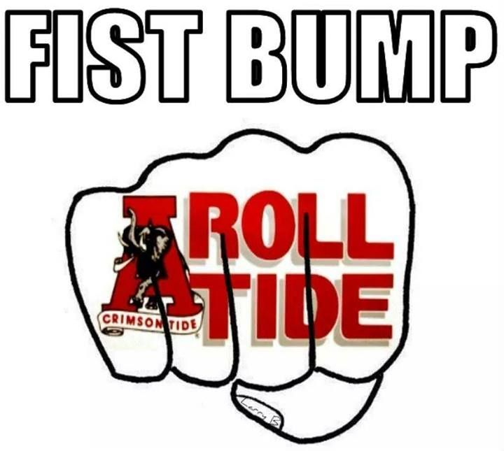 Fist Bump Roll Tide Alabama Crimson Tide Mascot Alabama