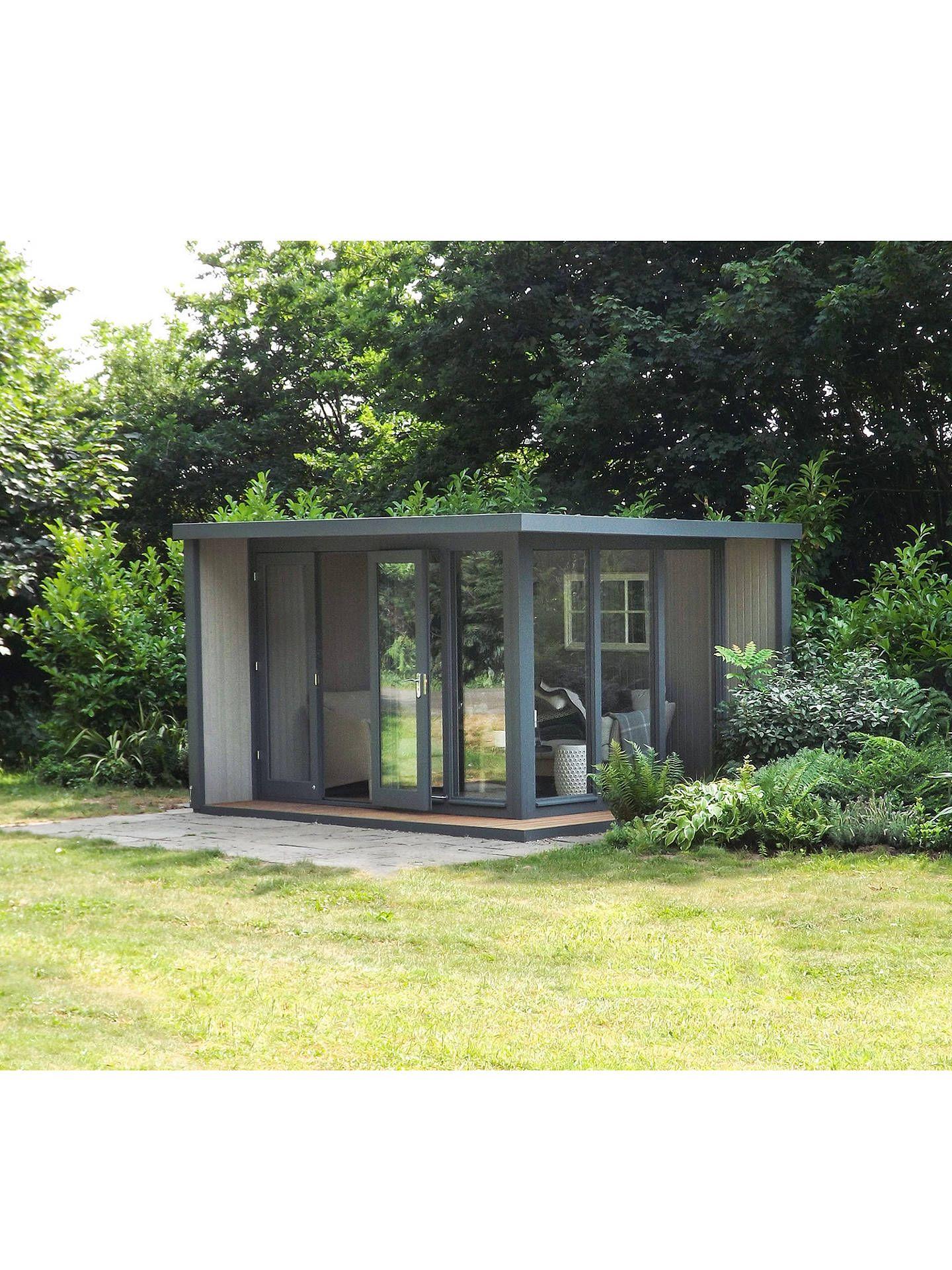 Crane 3 X 3 6m The Hub Outdoor Left Hand Corner Studio Fsc Certified Scandinavian Redwood Roof Design Outdoor Garden Office