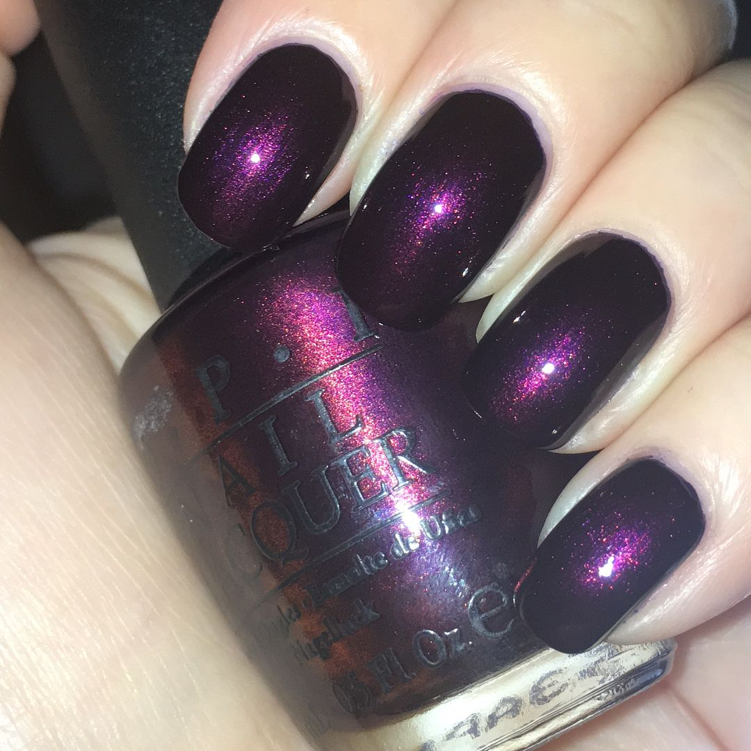 OPI Polish in Every Month Is October Fest | Dark Purple Nails ...