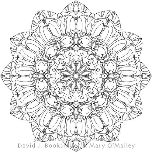 Pink Dahlia Iii From 52 More Flower Mandalas An Adult Coloring Book For Inspiration And Stress Relief B Coloring Books Adult Coloring Books Adult Coloring