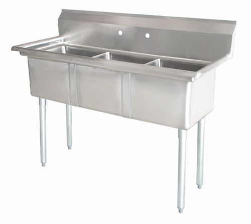 Commercial Stainless Steel 3 Three Compartment Sink 53 X 26 New Kitchen Sink Design Stainless Sink Stainless Steel Sinks