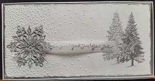 kortblogger: Julekort i sølv og hvid.