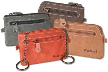 Woodland/® Luxus-Umh/ängetasche aus naturbelassenem B/üffelleder in Dunkelbraun//Taupe