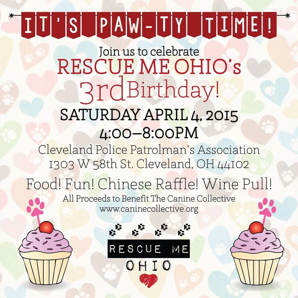 """BROUGHT TO YOU BY THE RESCUE ME OHIO """"HELP ME HOUR""""  One week! Come party with us! JOIN HERE> https://www.facebook.com/events/356869527854929/"""