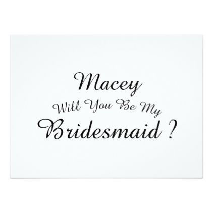 #wedding - #Will you by my Bridesmaid invitation