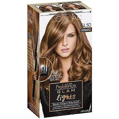 L'Oréal Superior Preference Glam Lights Medium Brown to Dark Brown GL50