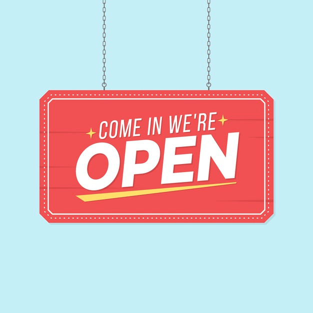 Download We Are Open Sign Concept For Free We Are Open Sign Open Signs Open House Signs
