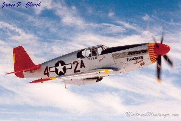 P 51 Mustang Red Tail P51 Mustangs Aircraft Ww2