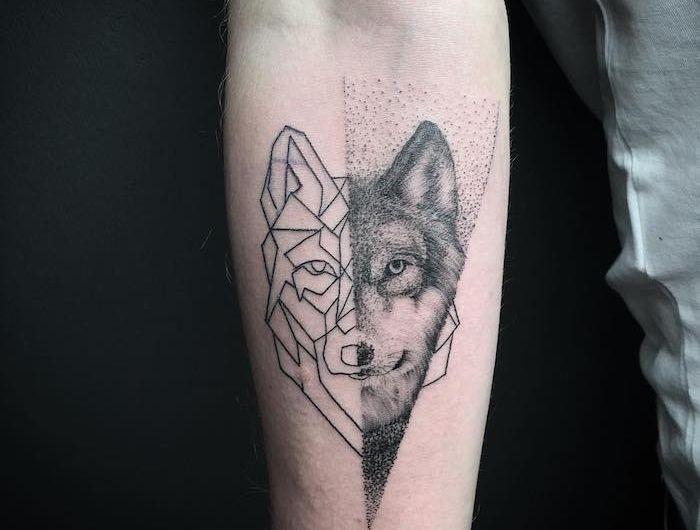 1001 mod les de tatouage loup pour femmes et hommes signification tatouage dessin loup et - Signification animaux tatouage ...