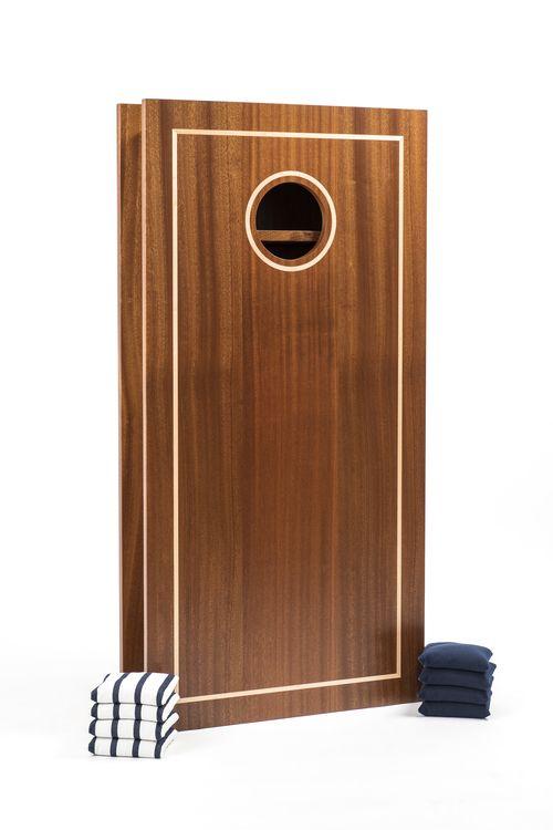 Sapele & Maple Luxury Cornhole: Signature Classic Cornhole Board by Matthias Kaupermann