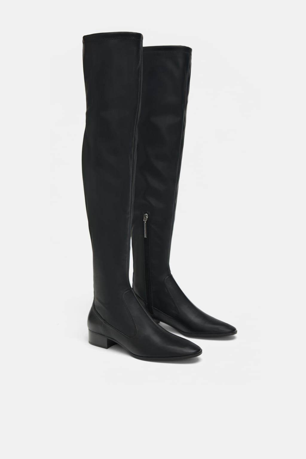 5b06163b7a1 Image 1 of STUDDED FLAT STRETCH BOOTS from Zara