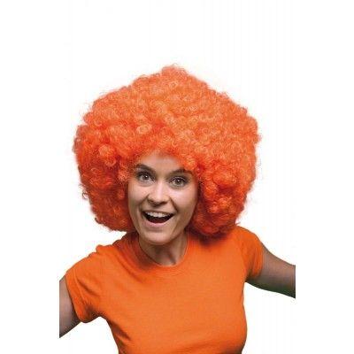 Superleuke Oranje Afropruik. Te gebruiken voor Koningsdag, Voetbal, of een ander Oranje feest. http://www.feestwinkel.nl/pruik-afro-oranje-xxl.html