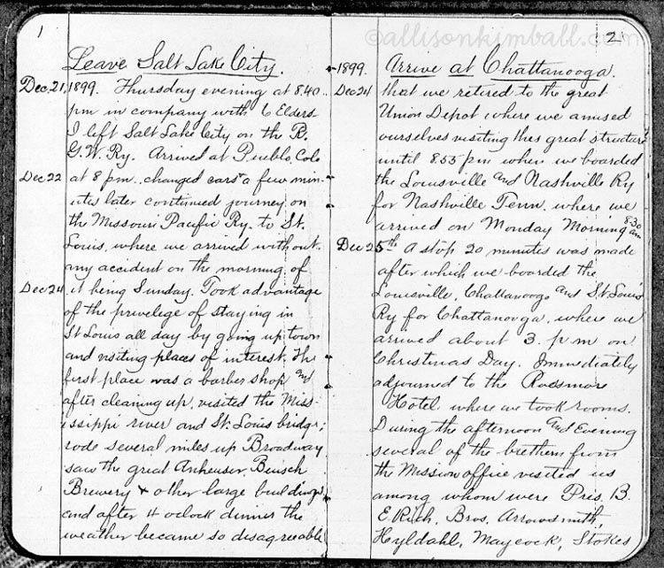Celebrate Your Missionary Heritage: Journals and Letters