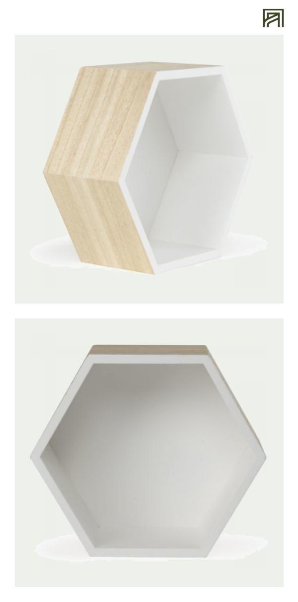 étagère hexagonale blanche 26x11xh30cm moyen modèle rush rangement et étagères etagère décoration intérieur
