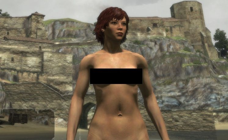 video nude characters Female mod game