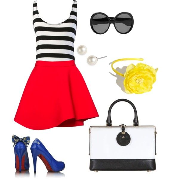 Cute. I'd wear this minus the shoes.
