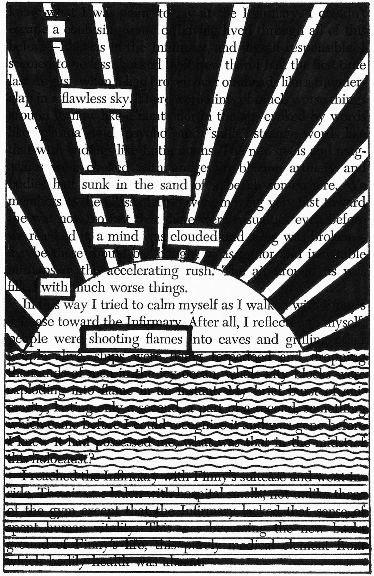Sinking Sinks Blackout Poetry And Black