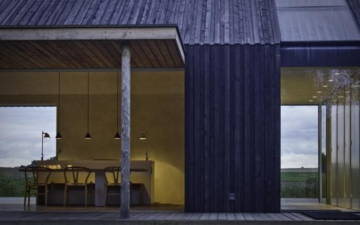 Black & Bright House, Island of Mon, Denmark, Jan Henrik Jansen, Architect