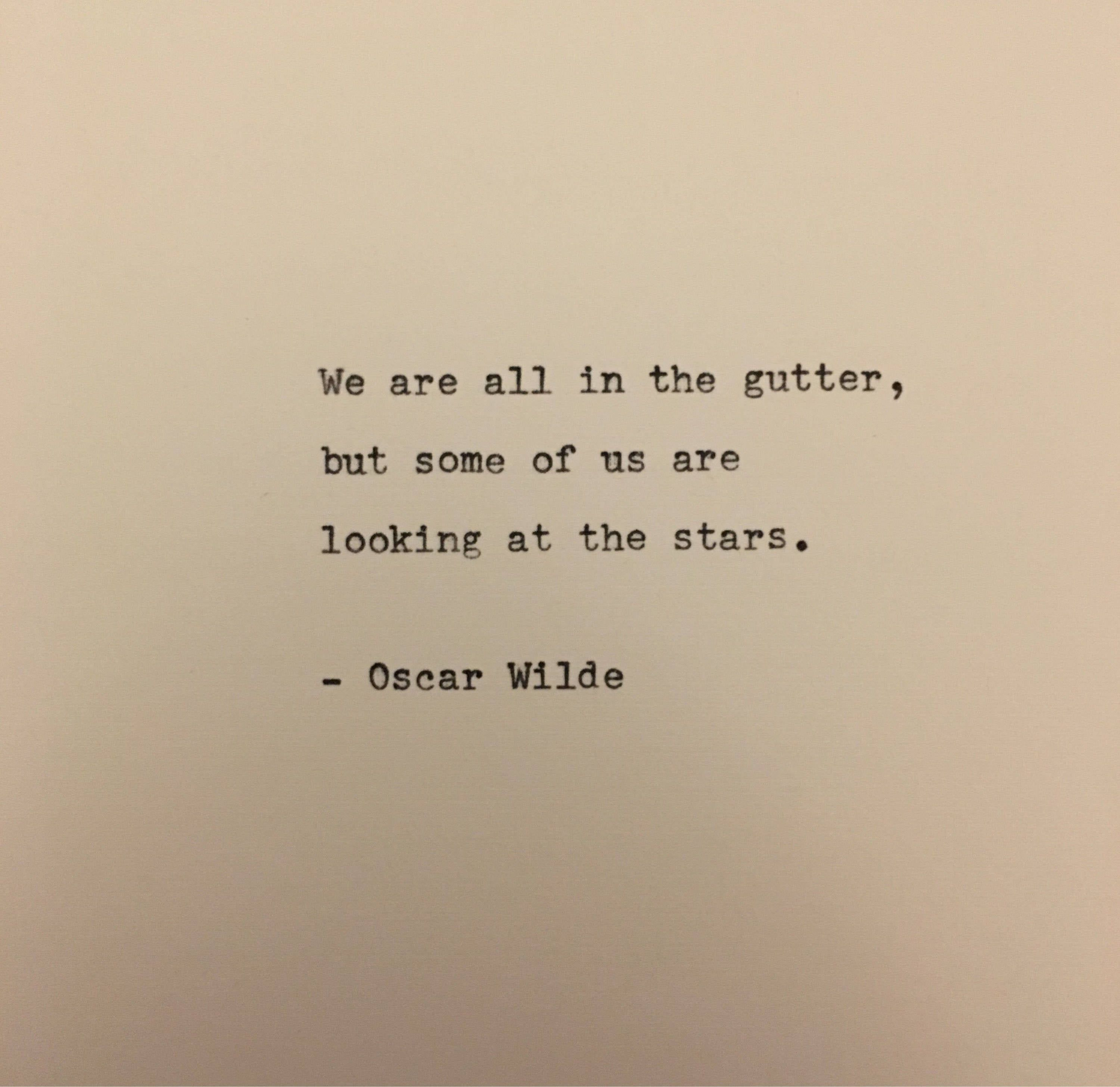 Oscar Wilde quote typed on typewriter  unique gift | Etsy