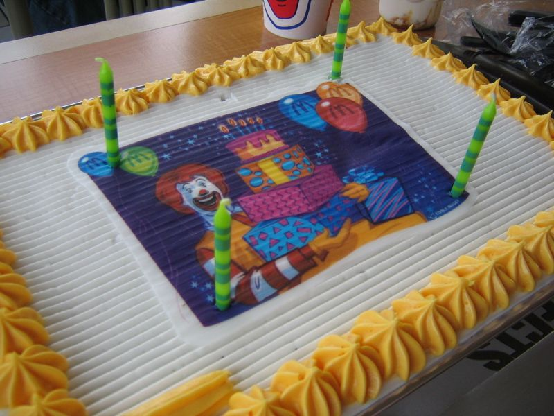 Mcdonalds Birthday Cake These Were Fantastic And Use To Come With