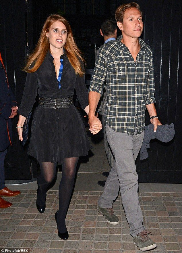 Princess Beatrice leaves jewellery party handinhand with