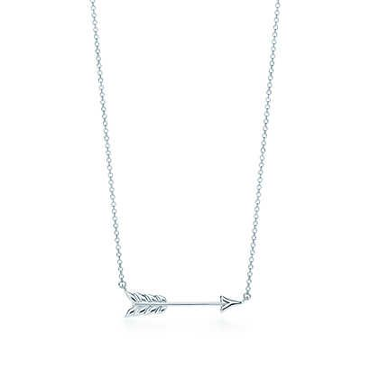 Rhodium-plated 925 Silver Arrow Pendant with 18 Necklace Jewels Obsession Arrow Necklace