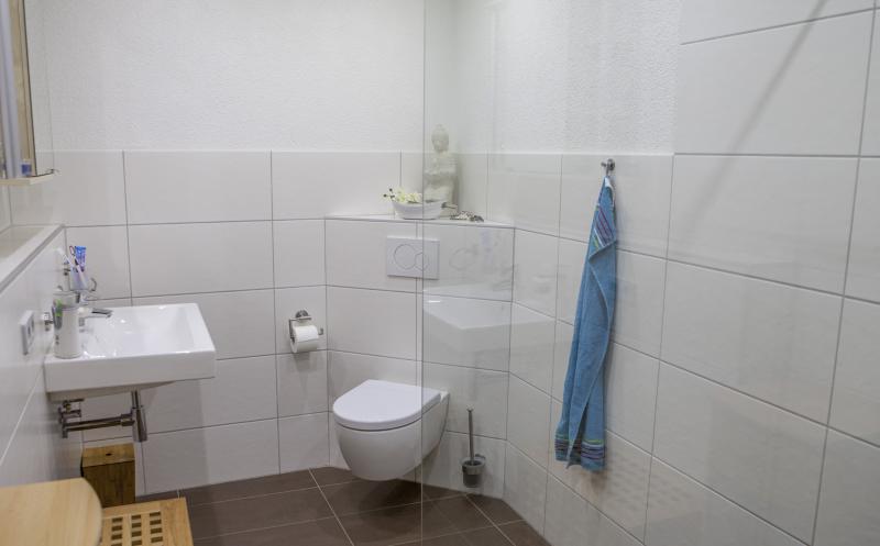 Gästebad Mit Dusche schmales gästebad mit begehbarer dusche badezimmer
