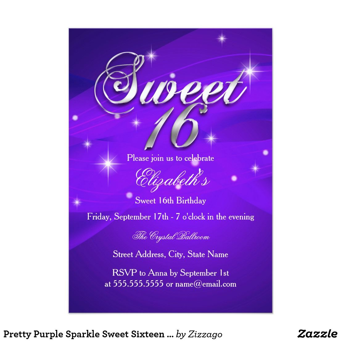 Pretty purple sparkle sweet sixteen invitation sweet sixteen pretty purple sparkle sweet sixteen invitation sweet sixteen invitation purple sparkle swirl please note stopboris Images