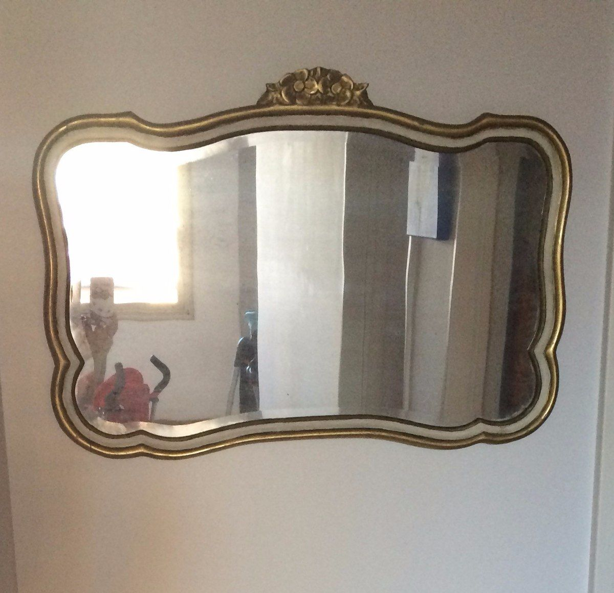 Arte Y Antigüedades Barockspiege Espejo De Pared En Repro Antiguo Barroco Estilo Moderno Oro Blanco Espejos