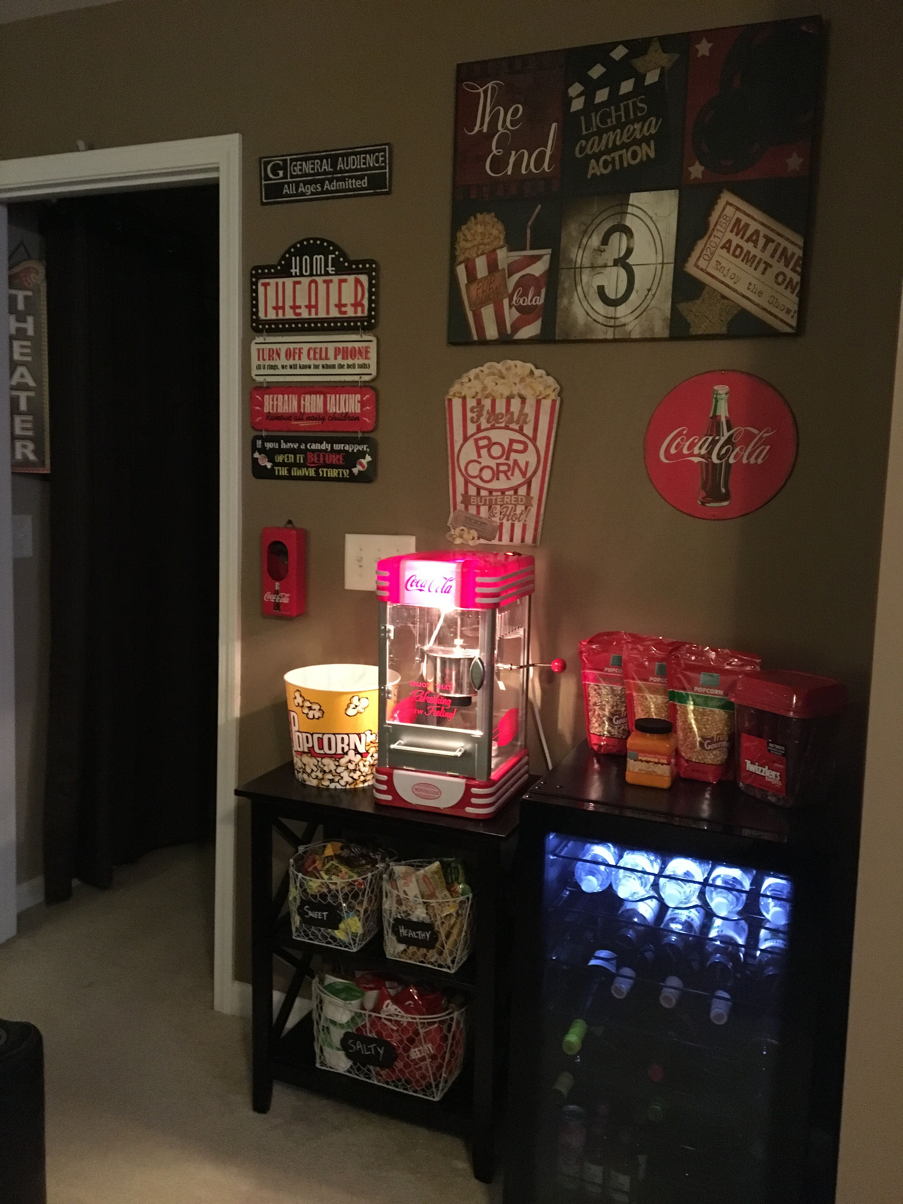Home Movie Theater Concession Stand