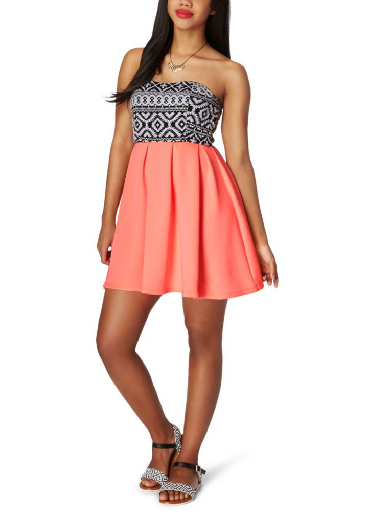 715027d4bc Aztec Sweetheart Tube Dress