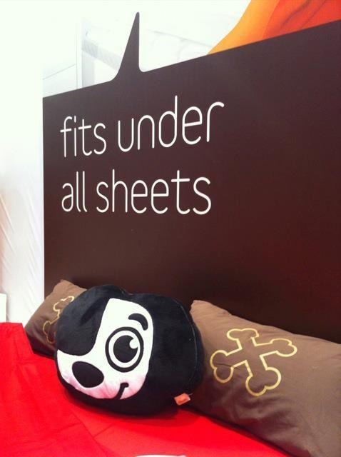 Sunny plush and Bones pillow.
