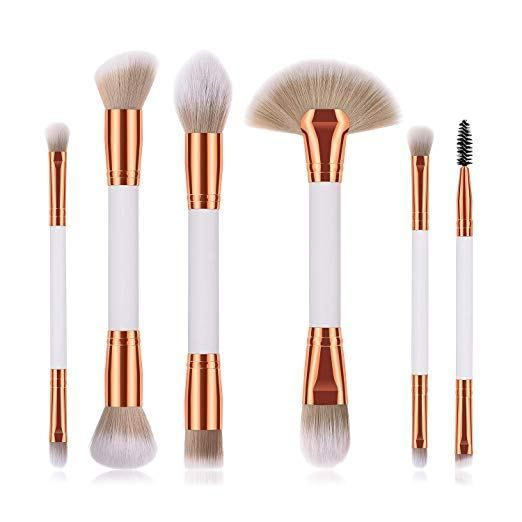 Photo of 6 Pieces Professional Double Sided Ended Makeup Brushes set – Makeup Natural