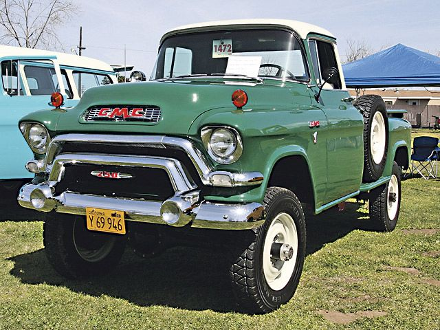 1956 - GMC offers factory-installed 4WD as an option