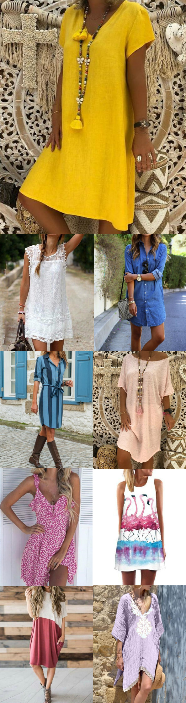 8+ Mini Dresses for You.Must Have It for Vacation Holiday.Free