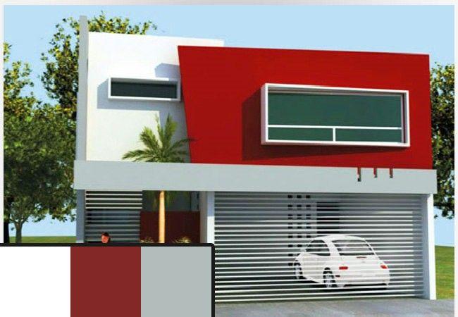 Colores para exteriores de casas peque as 2 color fachada - Mejor pintura para hierro exterior ...