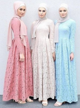 Model Baju Muslim Gamis Brokat Untuk Muslimah Masa Kini Hijab