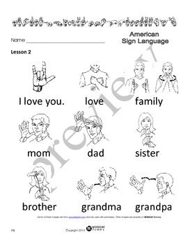 photo regarding Asl Animal Signs Printable identify ASL: Advent in the direction of American Indicator Language 10 lesson program