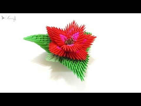 How to make 3d origami flower 2 youtube quilling pinterest how to make 3d origami flower 2 youtube mightylinksfo