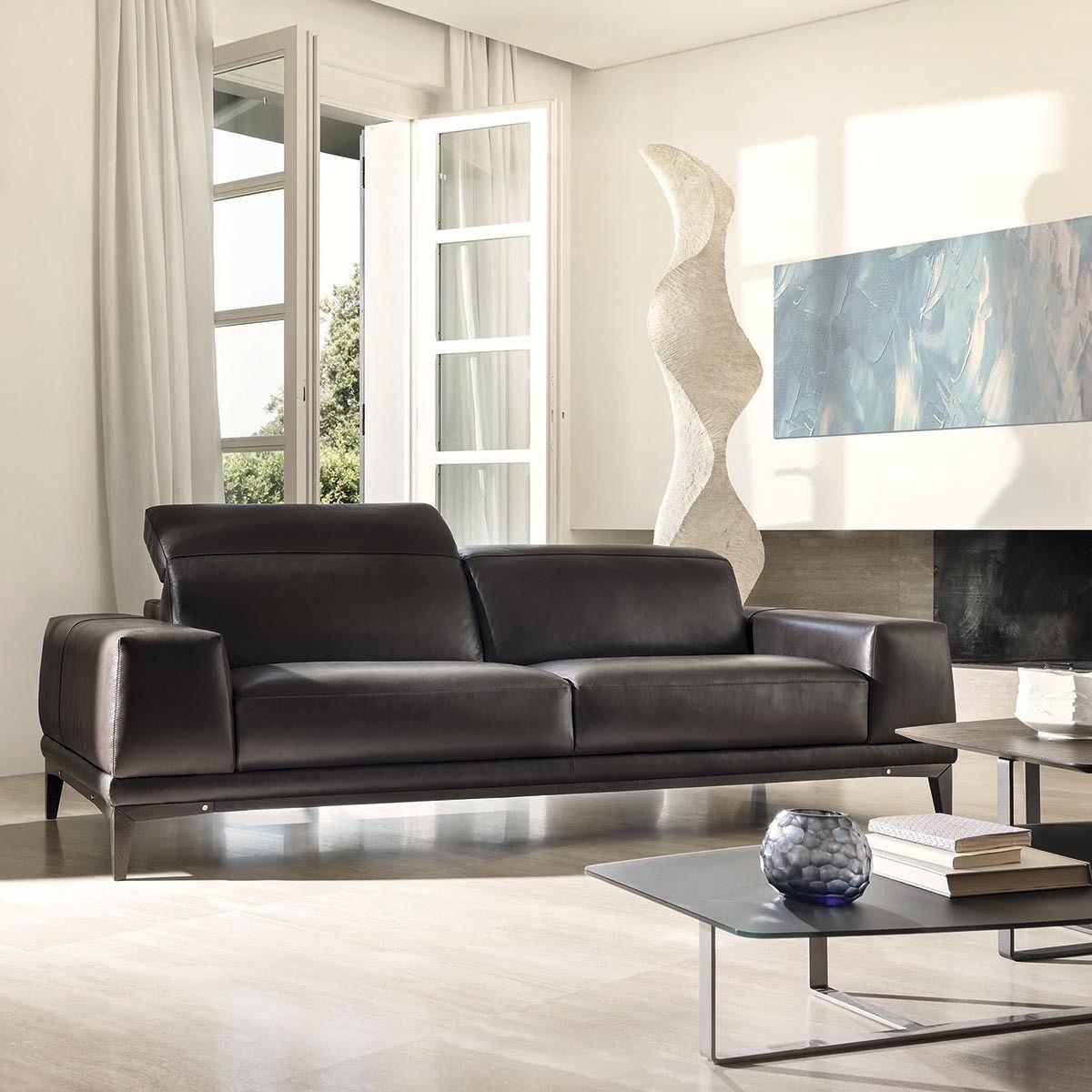 Sofa De Piel De 3 Plazas Natuzzi Borghese Marron Chocolate Decoraciones De Casa Muebles Muebles Frescos