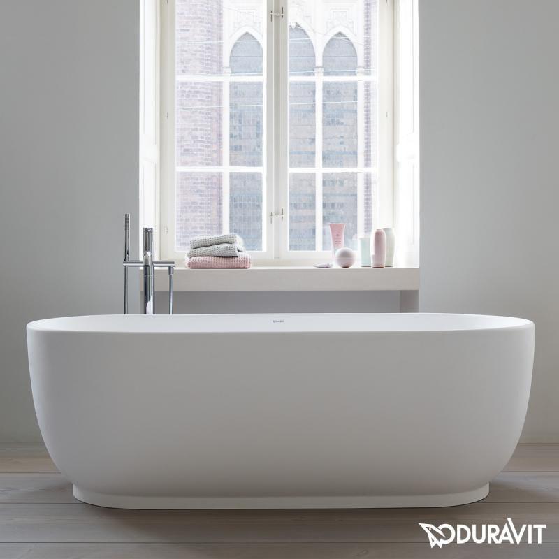 Duravit Luv freistehende Badewanne, mit nahtloser Verkleidung, mit 2 - fliesen bad wei