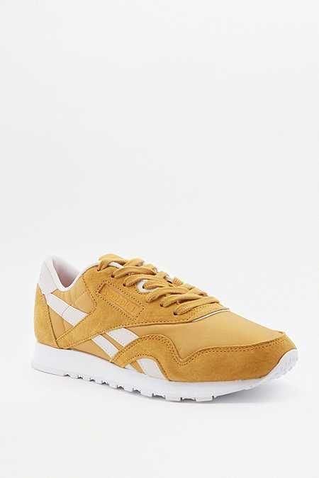 hommes trainer trainers green blanche reebok sole yellow 1TFKJcl