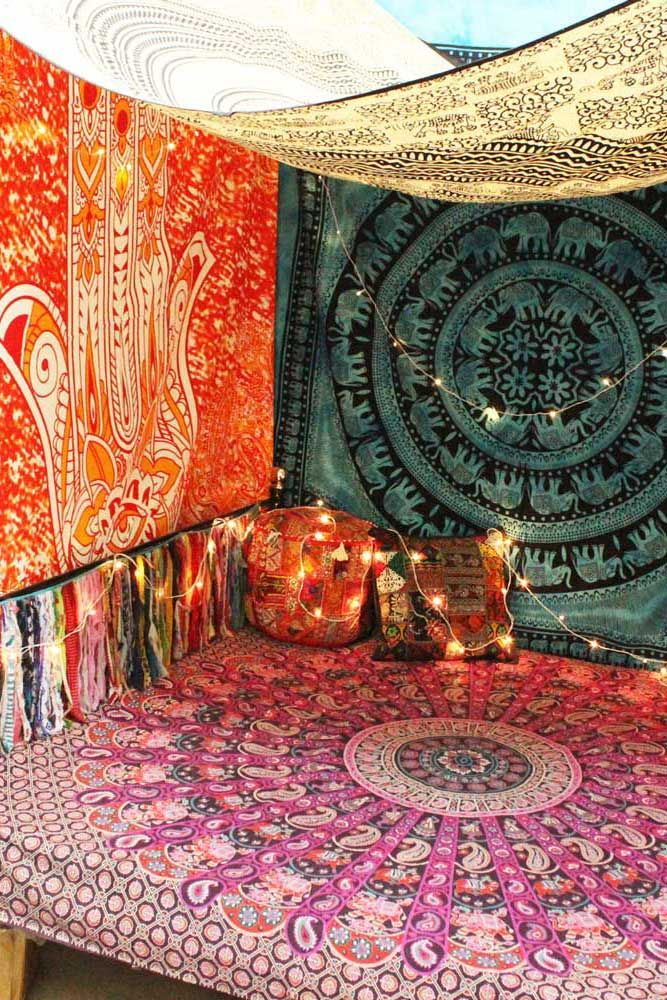 Mandala tapestry tent mandala tapestry bohemian - Wall hanging ideas for bedrooms ...