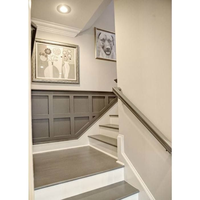 Painted Basement Stairs Ideas: Basement Stairwell; Trim Work